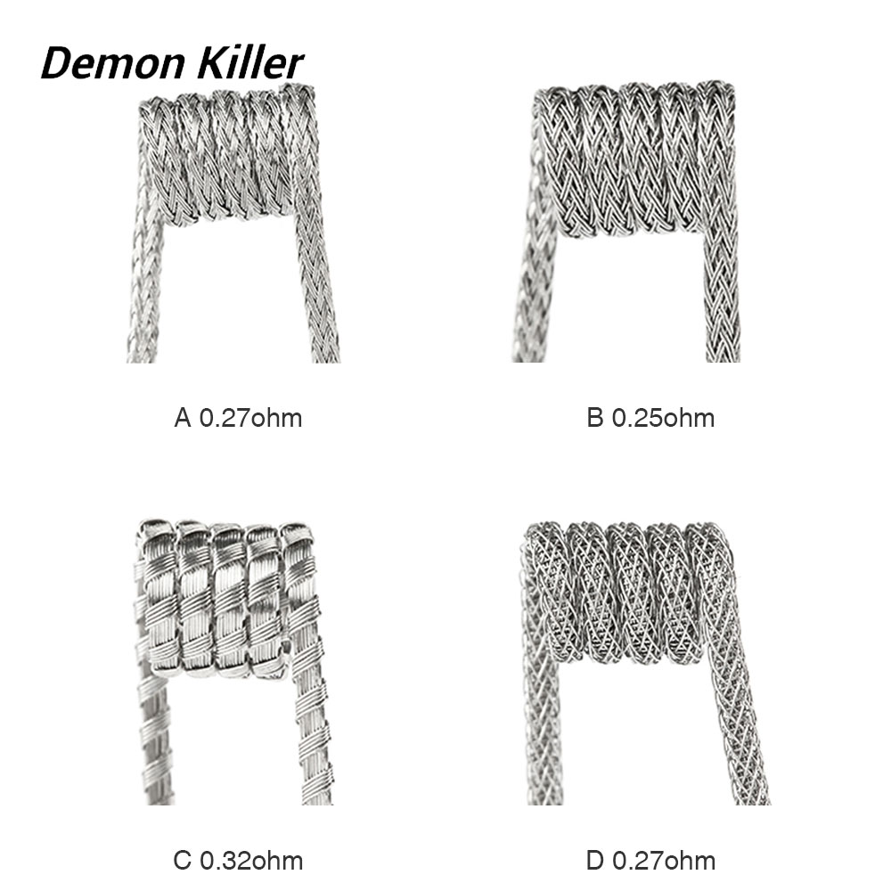 4pcs Demon Killer Raging Fire Ni80 Coil 0.25ohm / 0.27ohm / 0.32ohm Made of Ni80 Material for Rebuildable Tank Vape Spare Part