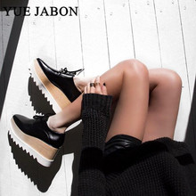 Women Sneakers Loafers Casual-Shoes Platform Bottoms Square Stars Fashion Thick YUE JABON