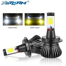 XSTORM H7 светодио дный H1 H3 H8 H11 светодио дный лампы 9005 HB3 9006 HB4 H27 880 881 двойной Цвет 2800LM автомобилей Противотуманные фары лампы Авто 12 В 3000 К 6000 К