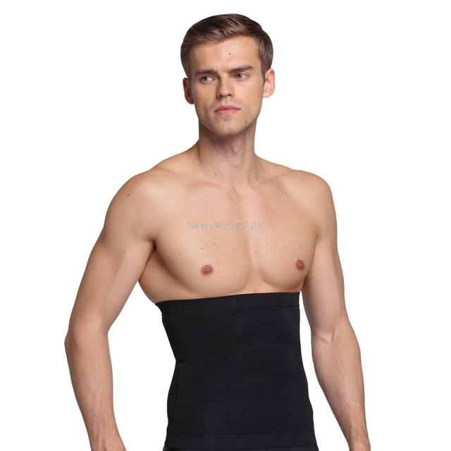 PRAYGER New Men Slimming Belly Shaper Belt Control Waist Tummy Trimmer Corset Seamless Boneless Body Shaper Girdle 1