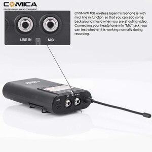 Image 5 - Comica CVM WM100 UHF 48 채널 Canon Nikon Sony DSLR 카메라/스마트 폰용 무선 라 발리에 옷깃 마이크 시스템