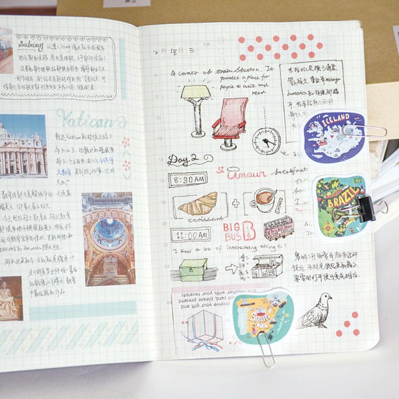 1 box 45 PCS China scenery stationery Paper Scrapbooking diary sticker