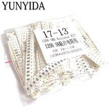 цена на 1206 SMD Resistor KIT  DIY kit ,0R,1R~1M  146ValuesX20pcs=2920pcs, free shipping