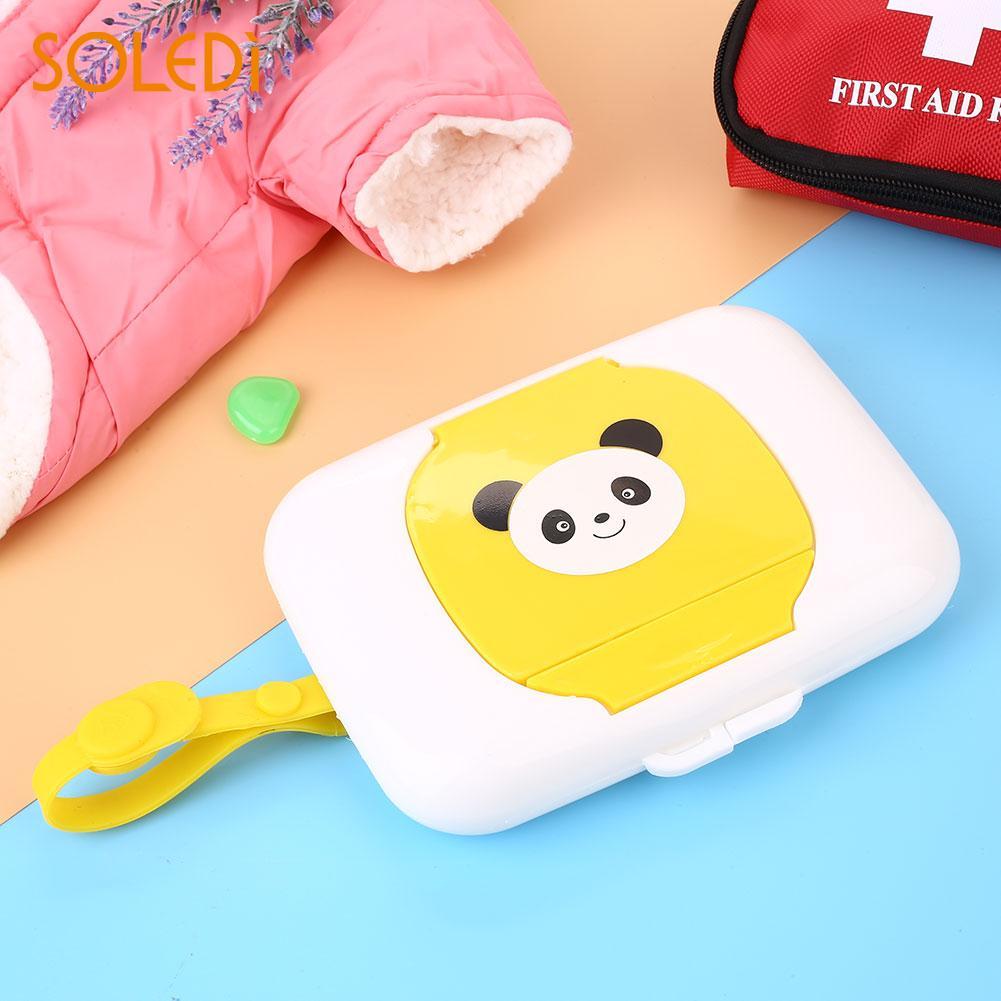 Baby Wet Wipes Case Kids Wet Tissue Holder Dispenser Storage Box Cartoon