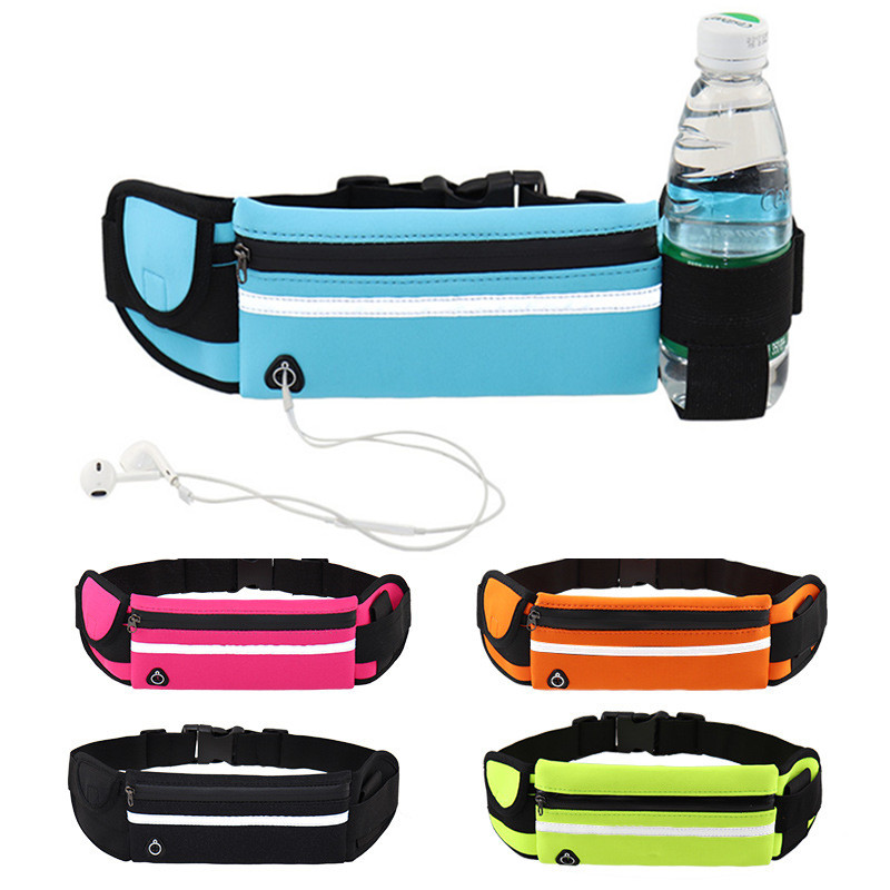 Adjustable Waterproof USB Waist Hip Bag Women Men Fanny Pack Casual 8