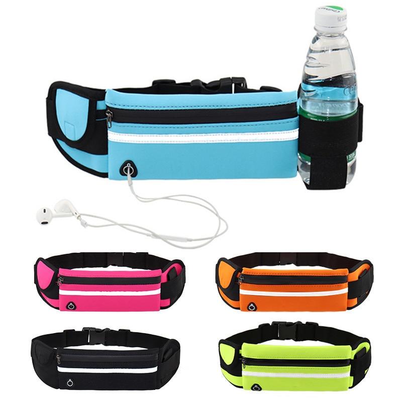 Adjustable Waterproof USB Waist Hip Bag Women Men Fanny Pack Casual 8