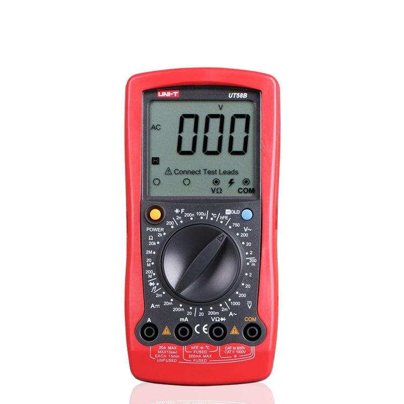 ФОТО 2016 UNI-T UT58B General Manual Digital Multimeters w/ Temperature test LCR Meter Ammeter Multitester Multimetro