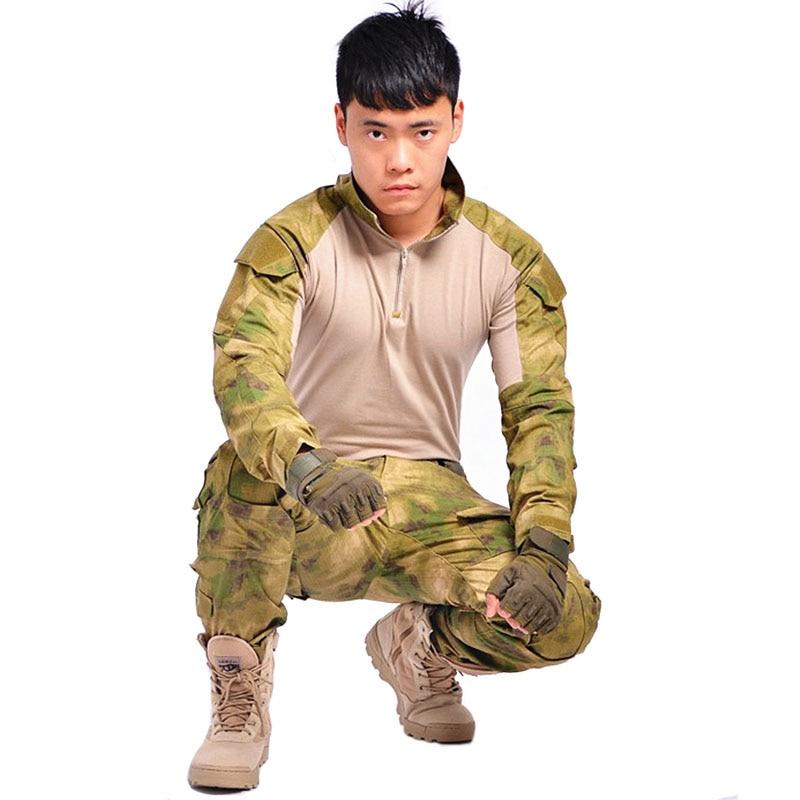 aichAngeI Tactical military uniform clothing army combat uniform tactical pants with knee pads camouflage uniforme militar