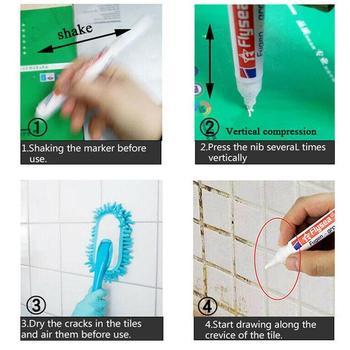 Lápiz de repuesto para reparación de huecos de azulejos blancos, remache de lechada para cocina blanca, limpiador de pintura para baño de ducha, agentes de relleno, porcelana de pared