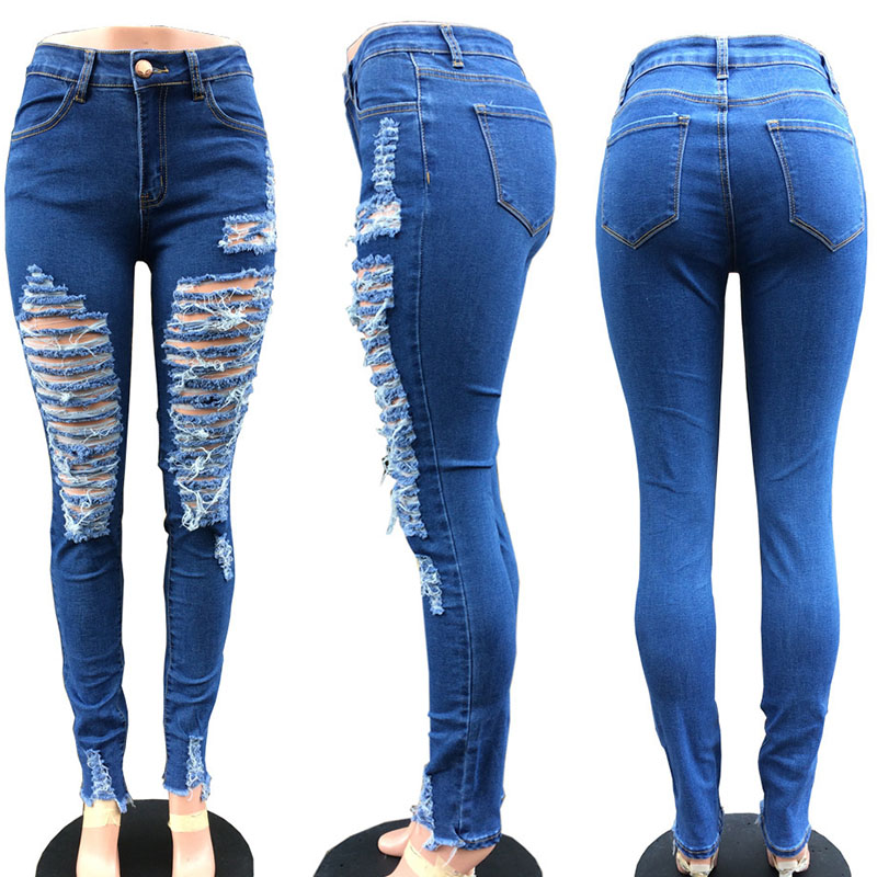 4e6a60c15a459 ripped jeans para mujeres sexy jeans woman pencil jeans stretch spring  pantalones de mujer women s pencil pants beg
