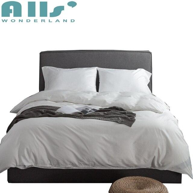 couvre lit duvet 100% egyptian cotton white bedding set excellent quality orange  couvre lit duvet
