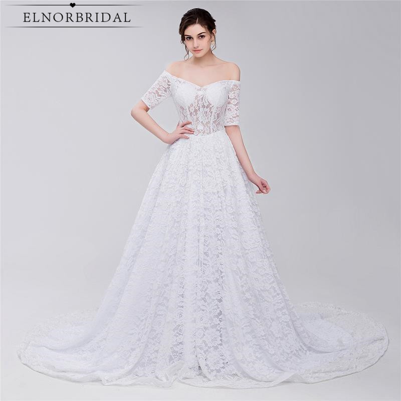 Off The Shoulder Wedding Dresses With Sleeves 2017 Robe De Mariee Vintage Lace Bridal Gowns Custom Made Alibaba China