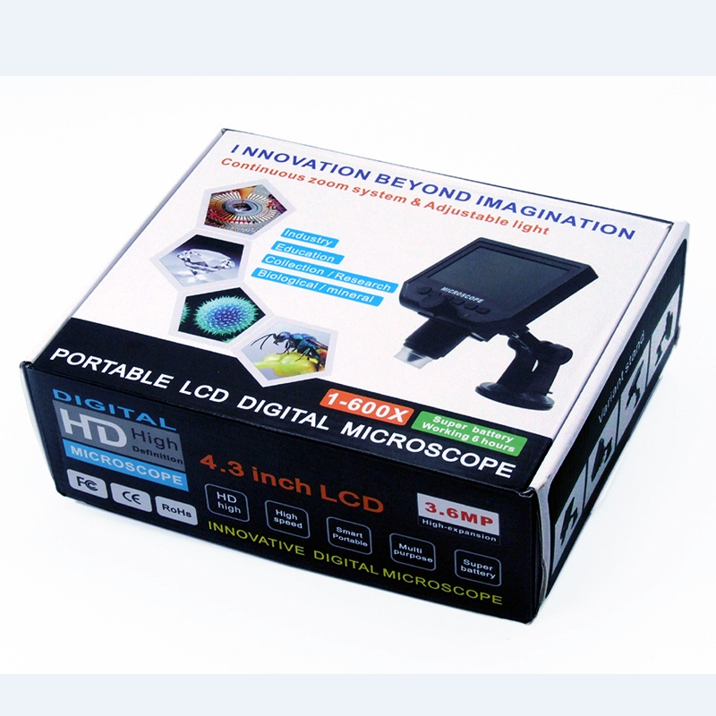 """1-600x цифровой электронный микроскоп портативный 3.6MP VGA микроскопы 4,"""" HD LCD Pcb Материнская плата ремонт эндоскопа Лупа камера"""