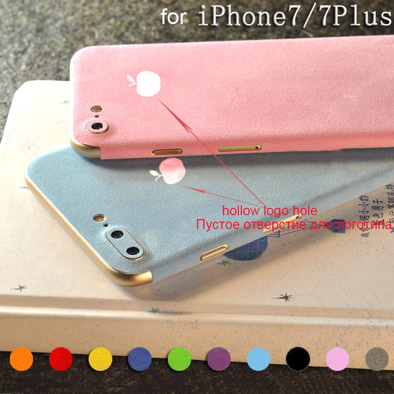 Plush Surface For iPhone 7 7 Plus Suede Back Screen Protector Film Protective Cover Stickers Color Paster Rear Decorative Film
