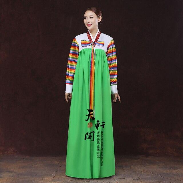 Высокое Качество Традиционной Корейской Платье Национальный Косплей Сценический Костюм Корейский Ханбок Для Женщин И Детей, Народный Танец Одежда
