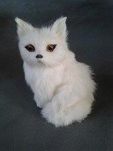 small cute simulaiton fox toy polyethylene&furs fox model gift about 8cmx8cmx16cm