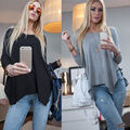 Women Lady Clothing Tops Fashion Long Sleeve Casual Lady Tops Loose T-Shirt Long Sleeve Women Clothes