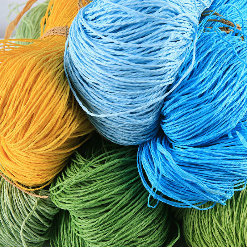Image 3 - 2019 Hot Summer Hat Yarn Yarn for Knitting 500 G/lot Raffia Straw Yarn Crocheting Yarn for Handmade Hats Baskets HandcraftsYarn   -