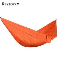 Lightweight Portable Parachute Nylon Hammock With Tree Straps Sleeping Tree Bed Nylon Portable Ultralight Hanging Hamak