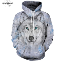 Wolf Hoodies Hoodie Men Women 2017 Hip Hop Autumn Winter Hoody Tops Casual Brand 3D Wolf