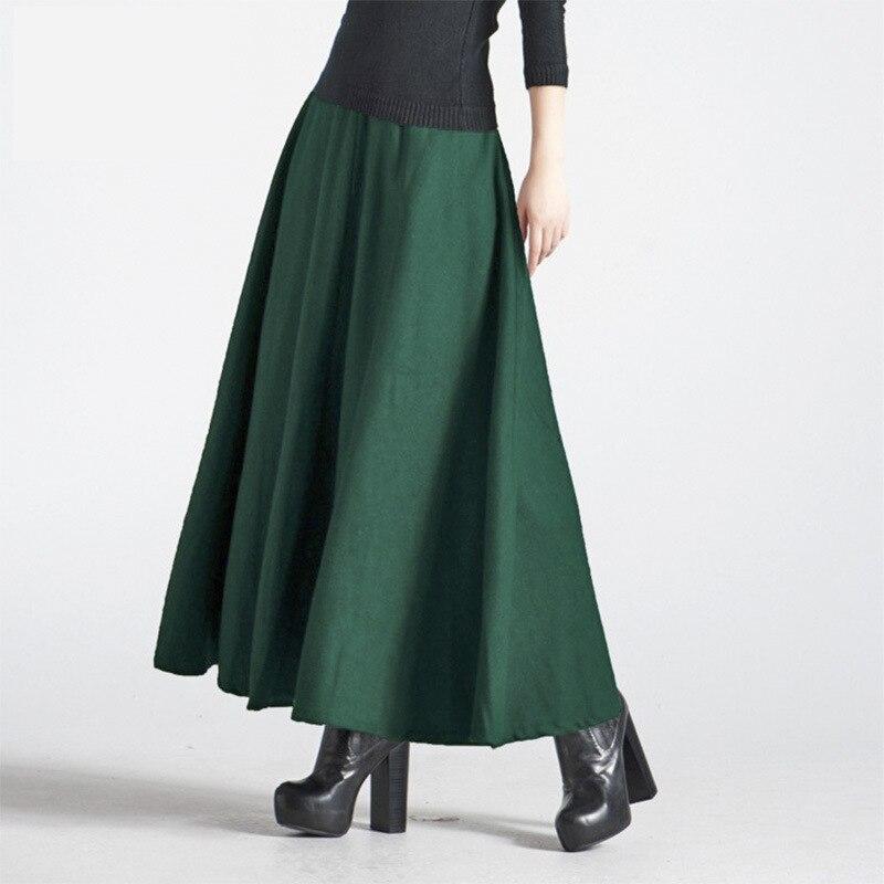 2017 Winter Long Skirt Fashion Women's Clothing Thick ...