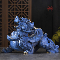 TOP GOOD 2020 family home Shop thriving business money Exorcise evil spirits GOOD LUCK FENG SHUI brass dragon PI XIU Ornament