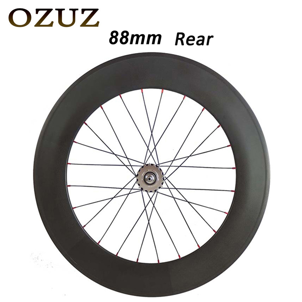 23mm wide track bike wheels 38mm 50mm 88mm only rear wheel clincher tubular flip flop fixed gear chinese 700c carbon wheels track carbon wheelset 88mm clincher bike wheels track single speed cycling wheels flip flop fixed gear novatec hubs 700c