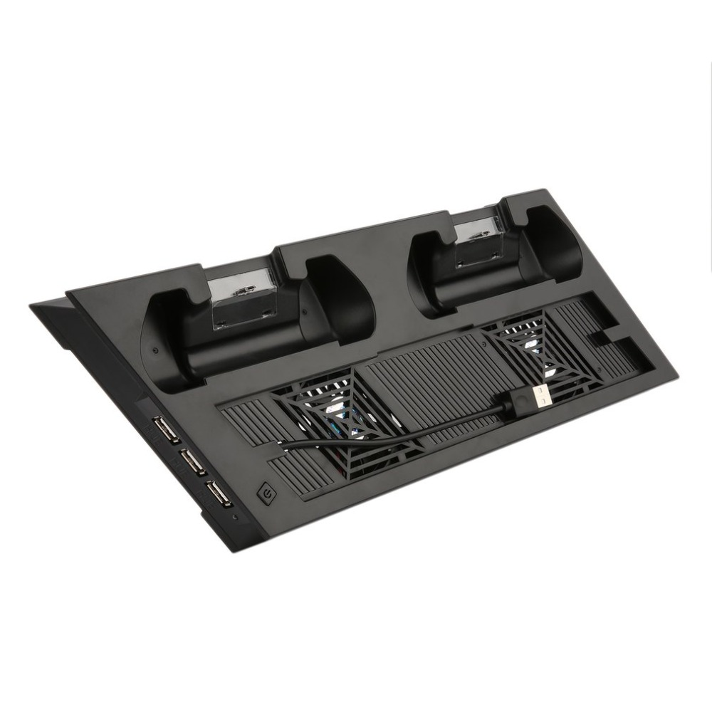 Pro Console Cooler Pad Vertical Stand Cooling Fan for Dual Joystick PS4 Charger USB Port Extended HUB for PlayStation 4