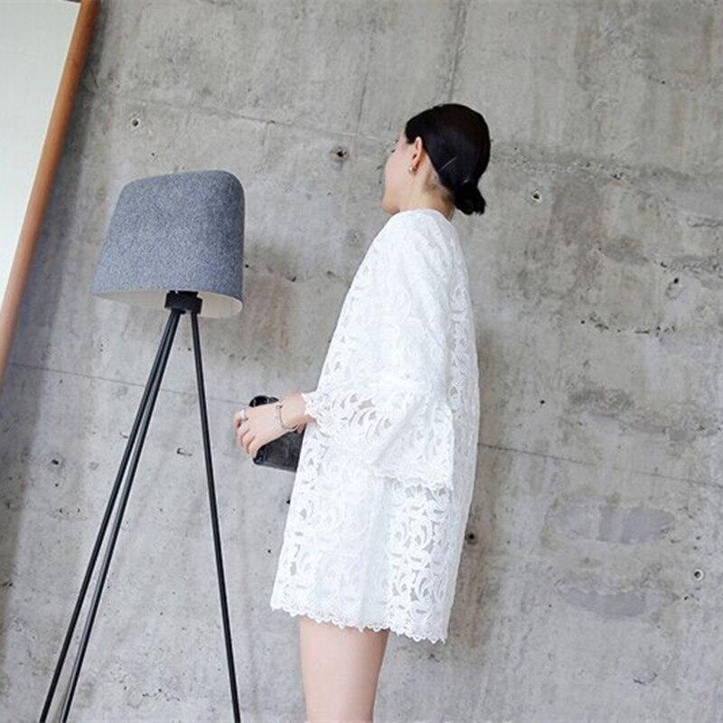 Wanita Blus 2020 Busana Musim Semi Tanduk Lengan Blus Kardigan - Pakaian Wanita - Foto 3