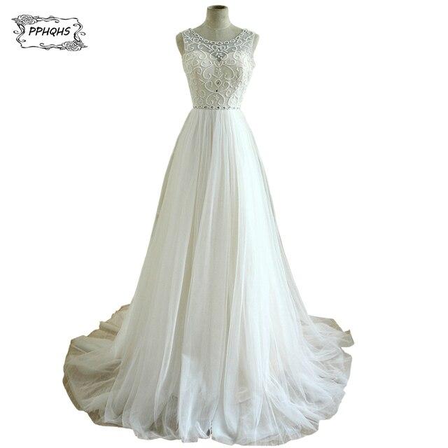 promoción oferta especial natural vestido de novia romántico 2017