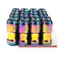 Бесплатная Доставка!! М12 х 1.5/1.25 Neochrome 44 мм Стальные Volk Rays Гонки Стальные Колесные Гайки