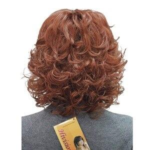 Image 3 - StrongBeauty frauen Synthetische Perücken Natürliche Lockige Perücke Medium Schwarz/Blonde Haarteil Haar Perücke