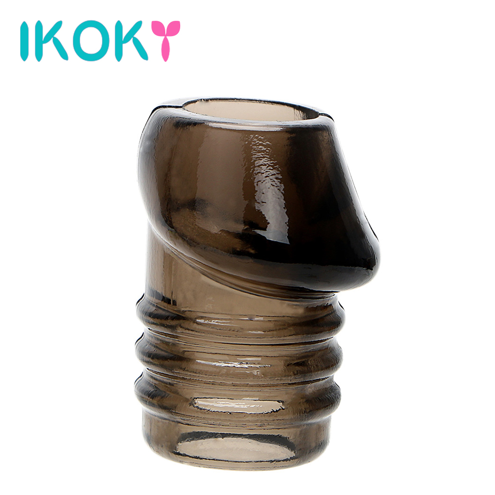 IKOKY Cock Ring Penis Ring Sex Toys For Men Delay Ejaculation Screw Type Glans Penis Sleeve Adult Sex Toys Chastity Cockring