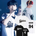 Nuevo Planeta #3 kpop exo xiumin chanyeol sehun baekhyun EXO camiseta del verano camiseta de las mujeres de las mujeres k pop k-pop top Tees camiseta harajuku