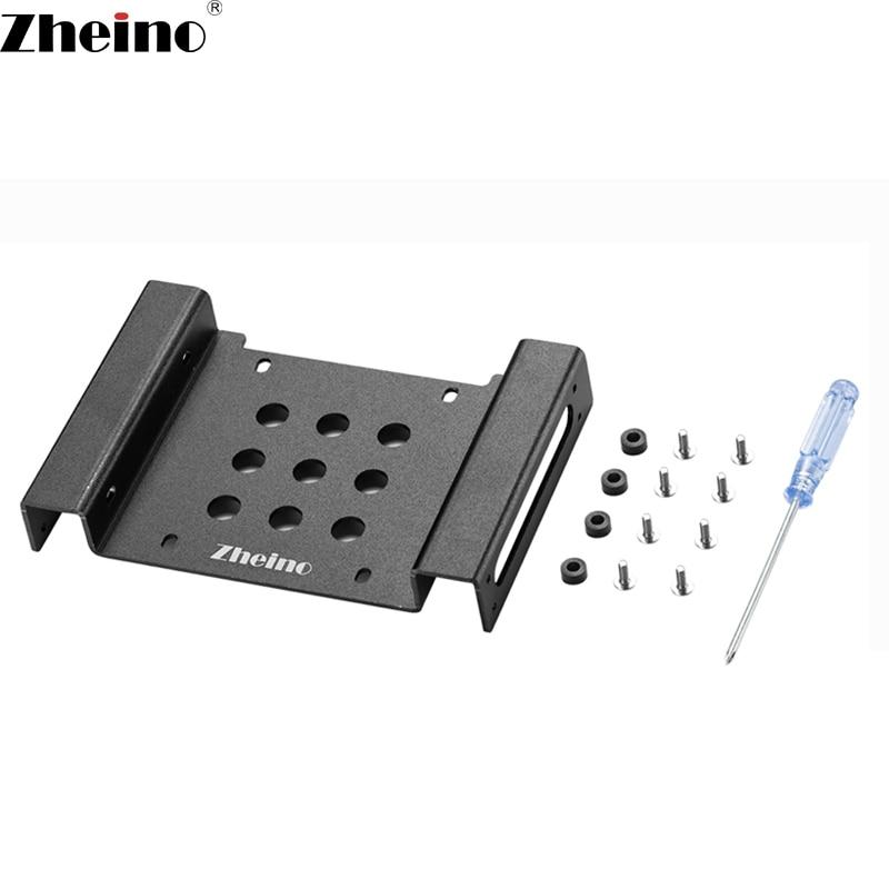 Zheino di Alluminio 2.5/3.5 a 5.25 Internal Hard Drive Bracket Adattatore di Montaggio Kit Telaio per 2.5/3.5 SATA HDD SSD
