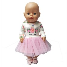 Hot Sale Doll Clothes Born Baby Fit 18 inch 40-43cm Unicorn dress Doll Accessories Clothes