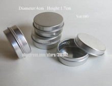 100pcs 10G Aluminum Tin 10cc metal Cosmetic Packaging Container,1/3oz professional cosmetics Jars