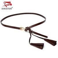 DINISITON Belts For Women Fashion Hasp Woman Genuine Leather Belt Designer Brand Cowskin Floral Female Belts