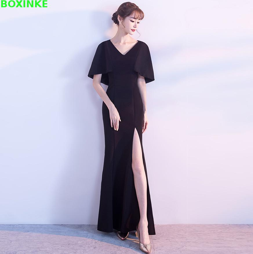 Vadim 2019 New V neck Special Offer Spring Plus Size Office Dress Women 39 s Elegant Banquet V Collar Show Thin Tail Host Long in Dresses from Women 39 s Clothing