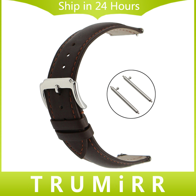18mm 20mm 22mm Quick Release Watch Band Genuine Leather Strap for CK (Calvin Klein) Men Women Stainless Steel Buckle Bracelet