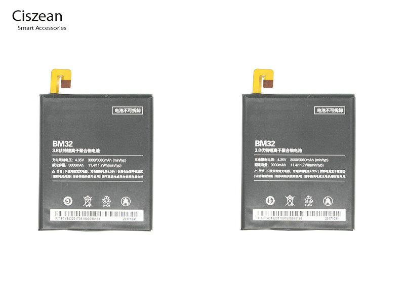 Ciszean Replacement Battery Batteria Xiao Mi 3000mah 32 For 4-Mi4 M4m/4-16gb 64GB 2pcs/Lot
