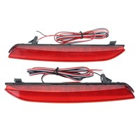 2Pcs Car LED Tail Brake Light For Honda CRV Fit 2010 2013 Rear Bumper Lamp Red