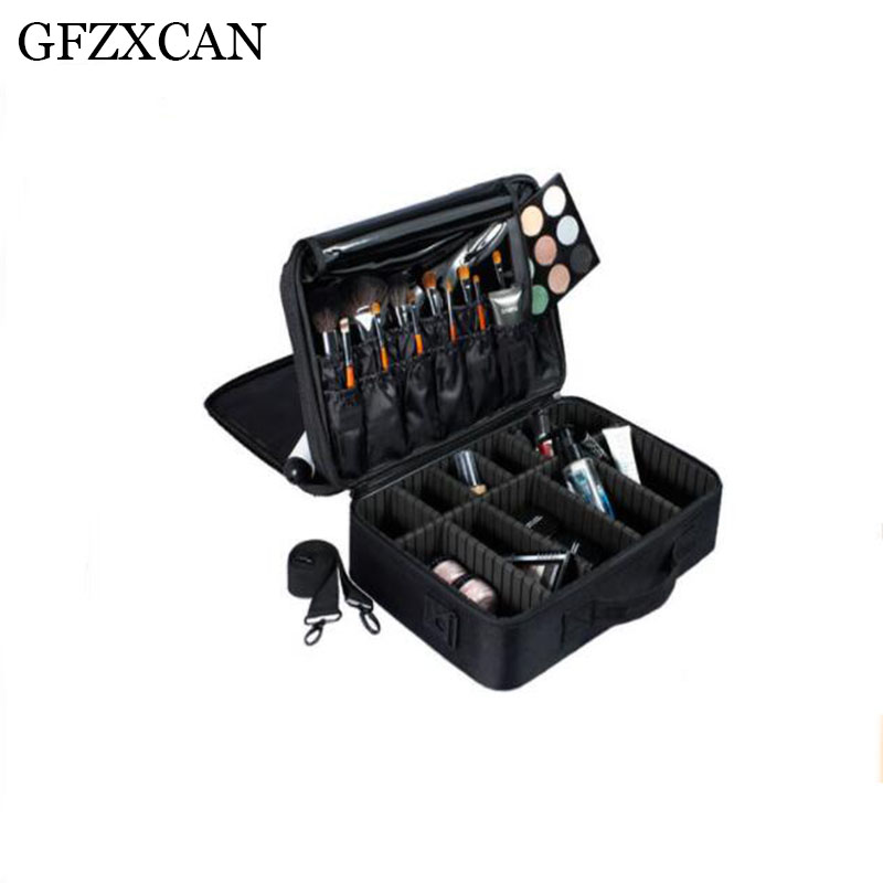 GFZXCAN Makeup Artist Professional Beauty Cosmetic Bag Multi-function Semi-permanent Tattoo Nail Multi-layer Tool Cosmetic Case