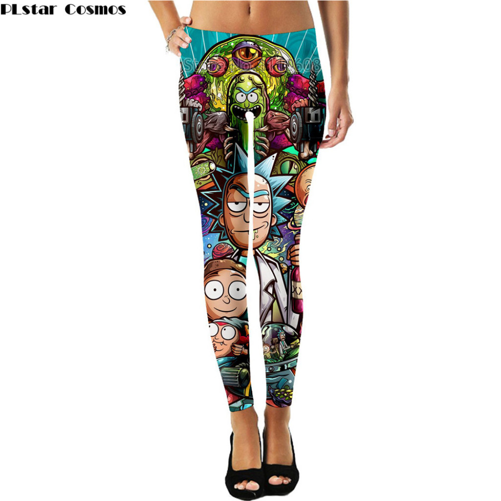 PLstar Cosmos Rick And Morty Lady   Leggings   Thin Elasticity women Pants 3D Print Comfortable Thin   Leggings   Pants Plus size S-5XL