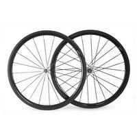 700C 38C 23mm Width Carbon 38mm Clincher Wheelset Carbon Fiber Road Bike Wheels Carbon Clincher