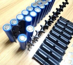 Image 4 - 4Pcs/lot 18650 battery holder Cylindrical cell 2*10 plastic holder 18650 lithium ion battery bracket plastic case Wholesale