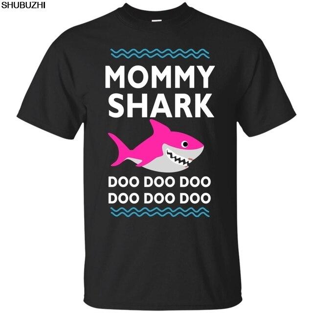 5459efa0 Mommy Shark Doo Doo T-Shirt Funny Kids Video Baby Daddy Black, T-shirt, Cartoon  t shirt men Unisex New Fashion tshirt