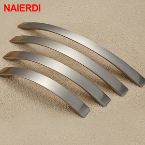 Image 2 - NAIERDI Cabinet Handles Knobs Aluminum Alloy Door Kitchen Knobs Cabinet Pulls Drawer Furniture Handle Hardware 128mm/160mm/192mm