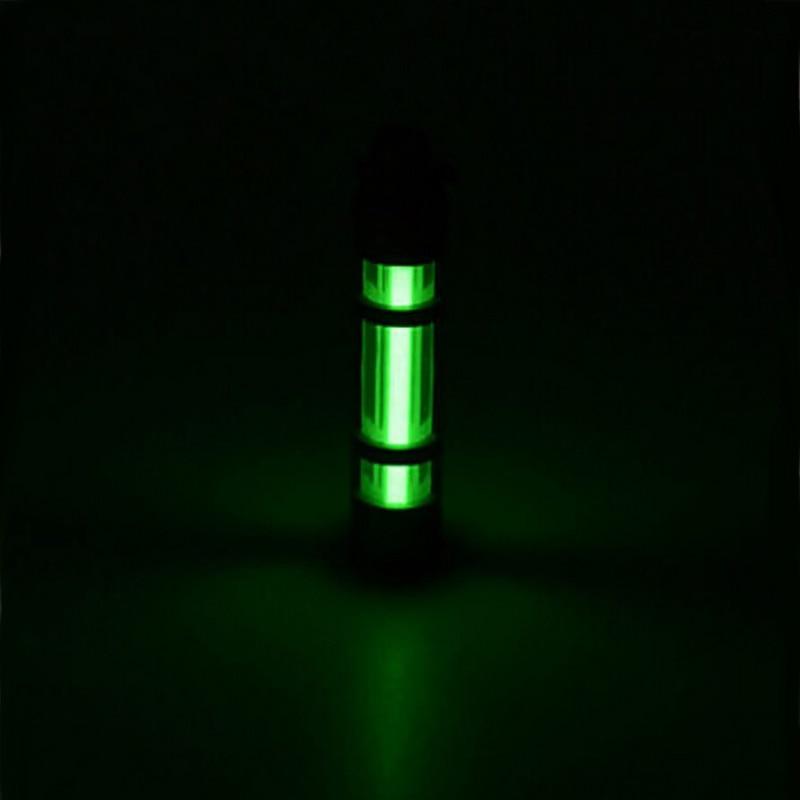 Lumière automatique 25 ans titane Tritium alliage porte-clés porte-clés Tube Fluorescent sauvetage en alliage de secours lumières 500UL