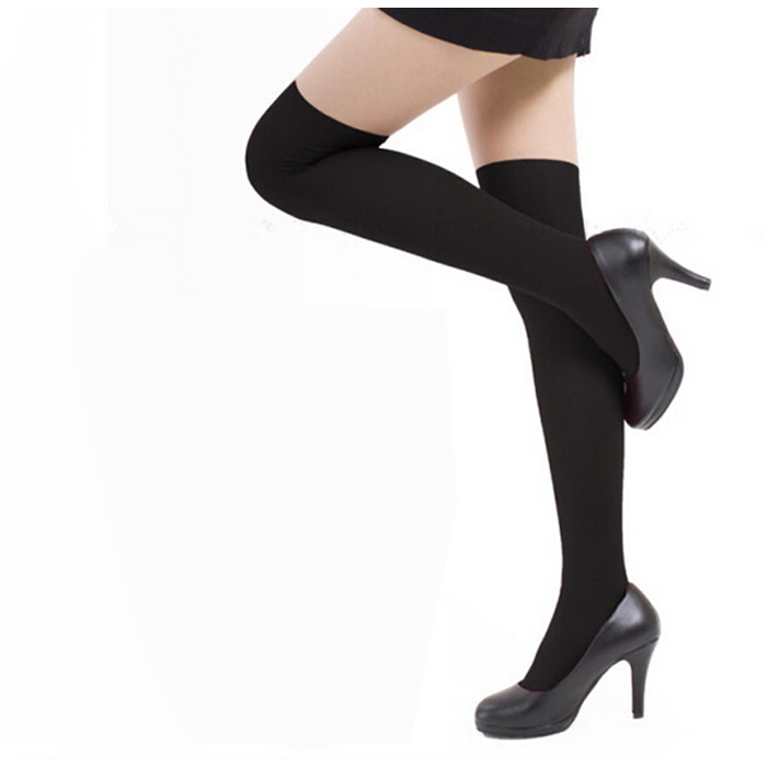 Womens Girls Fashion Opaque Over Knee Thigh High Elastic Socks New Thigh High Socks #B02 ...